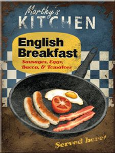 English Breakfast steel fridge magnet (na)